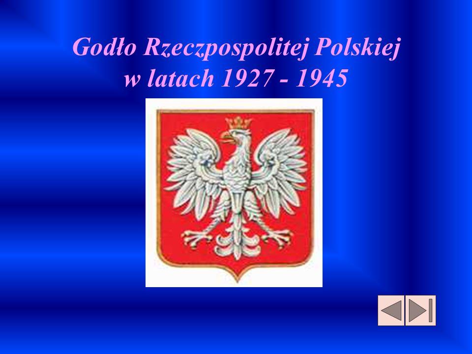 Godło Rzeczpospolitej Polskiej w latach 1927 - 1945