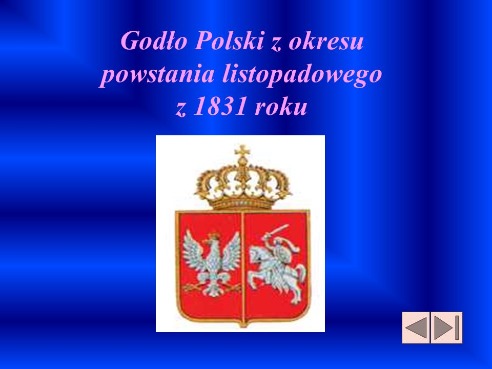 Godło Polski z okresu powstania listopadowego z 1831 roku