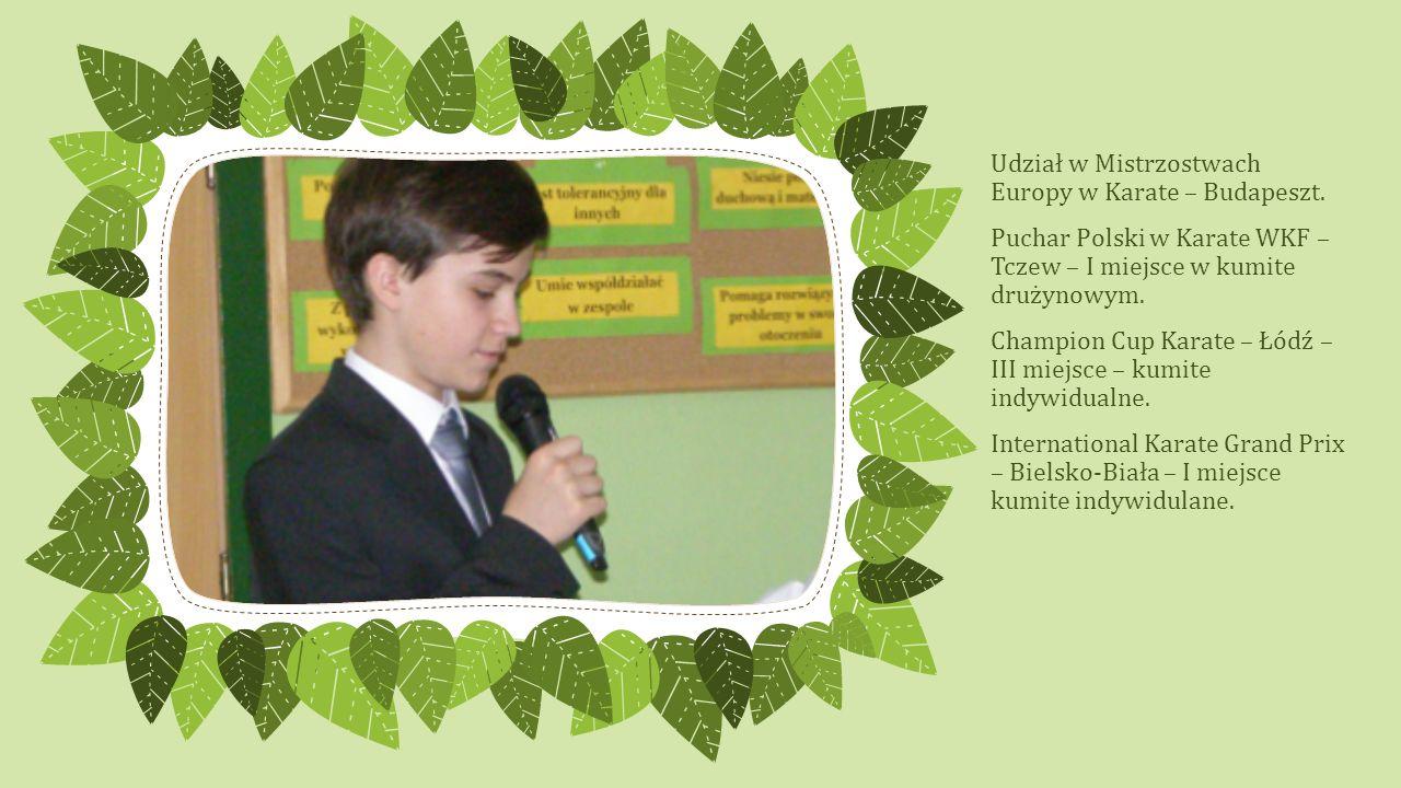 Udział w Mistrzostwach Europy w Karate – Budapeszt.