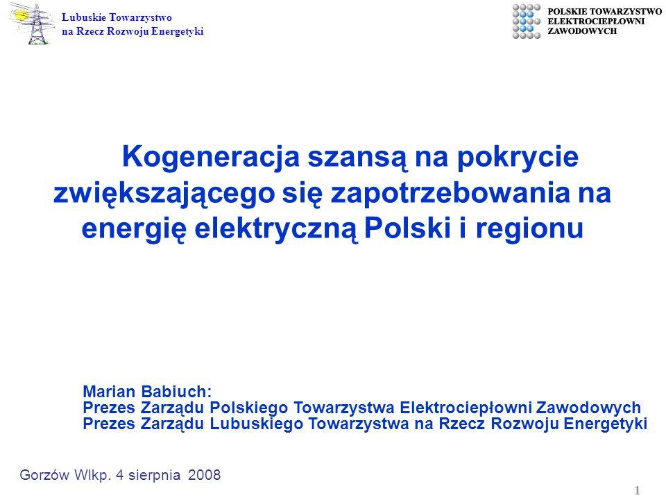 Kogeneracja szansą na pokrycie zwiększającego się zapotrzebowania na energię elektryczną Polski i regionu