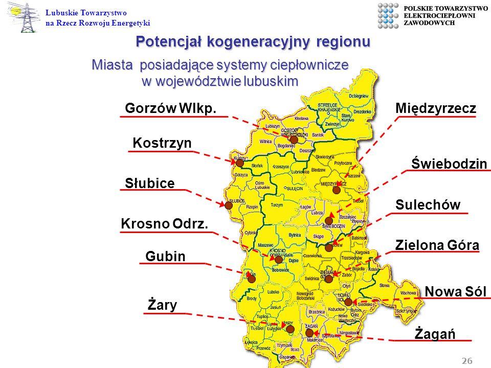 Potencjał kogeneracyjny regionu