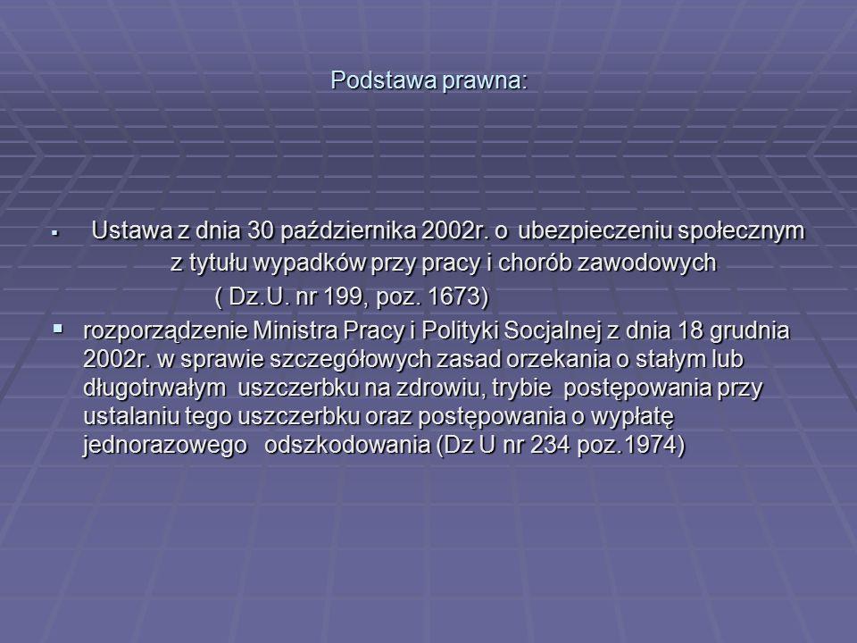 Podstawa prawna: ( Dz.U. nr 199, poz. 1673)