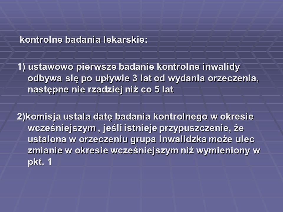 kontrolne badania lekarskie: