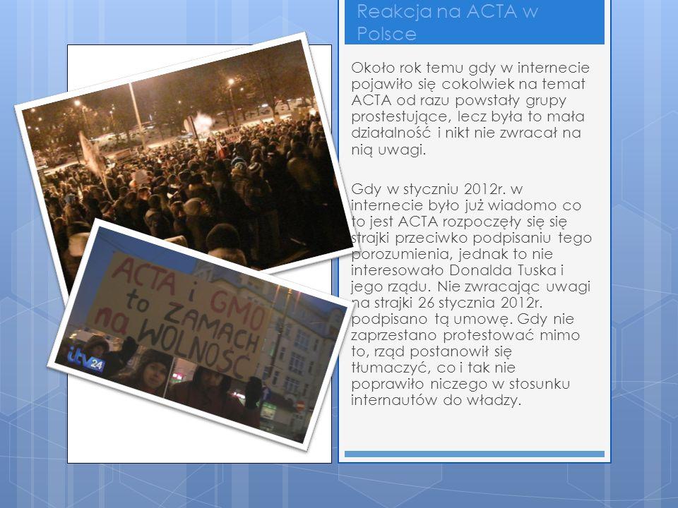 Reakcja na ACTA w Polsce