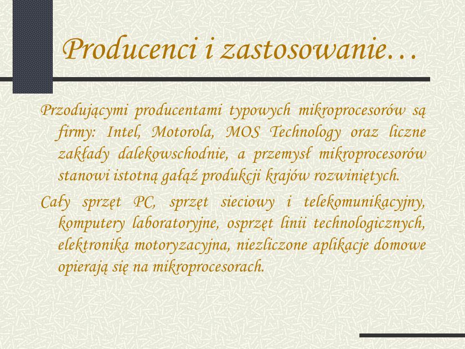 Producenci i zastosowanie…