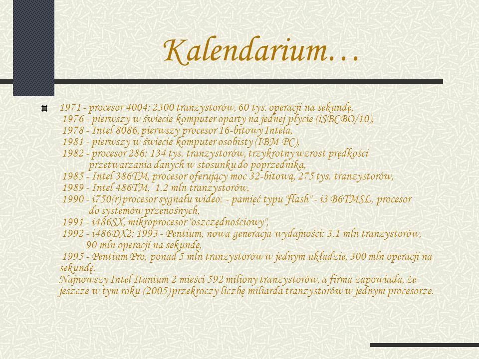 Kalendarium…
