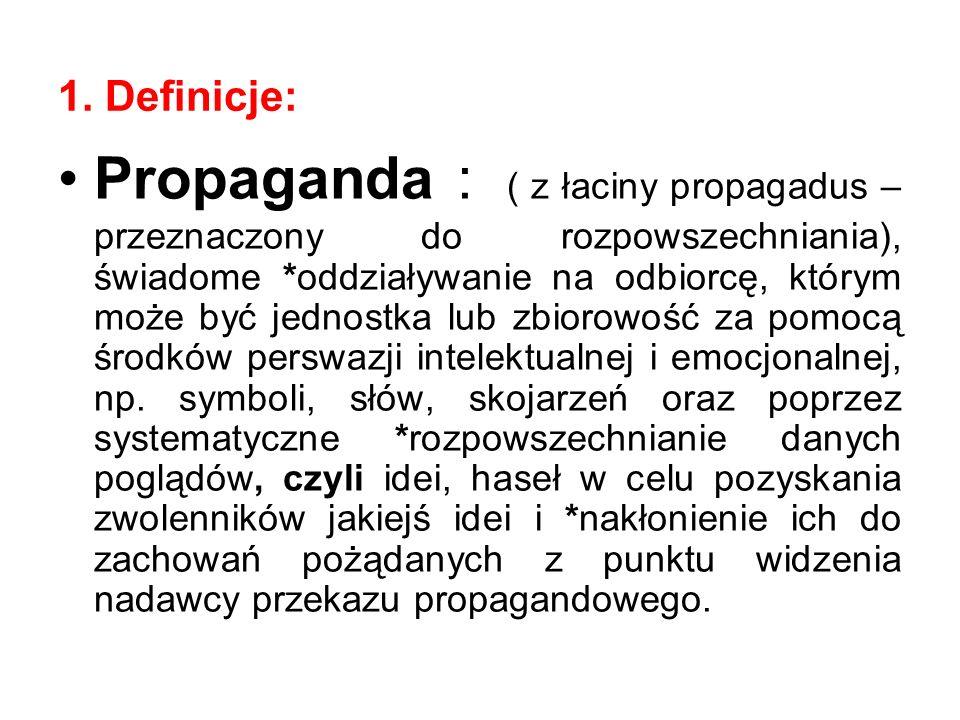 1. Definicje: