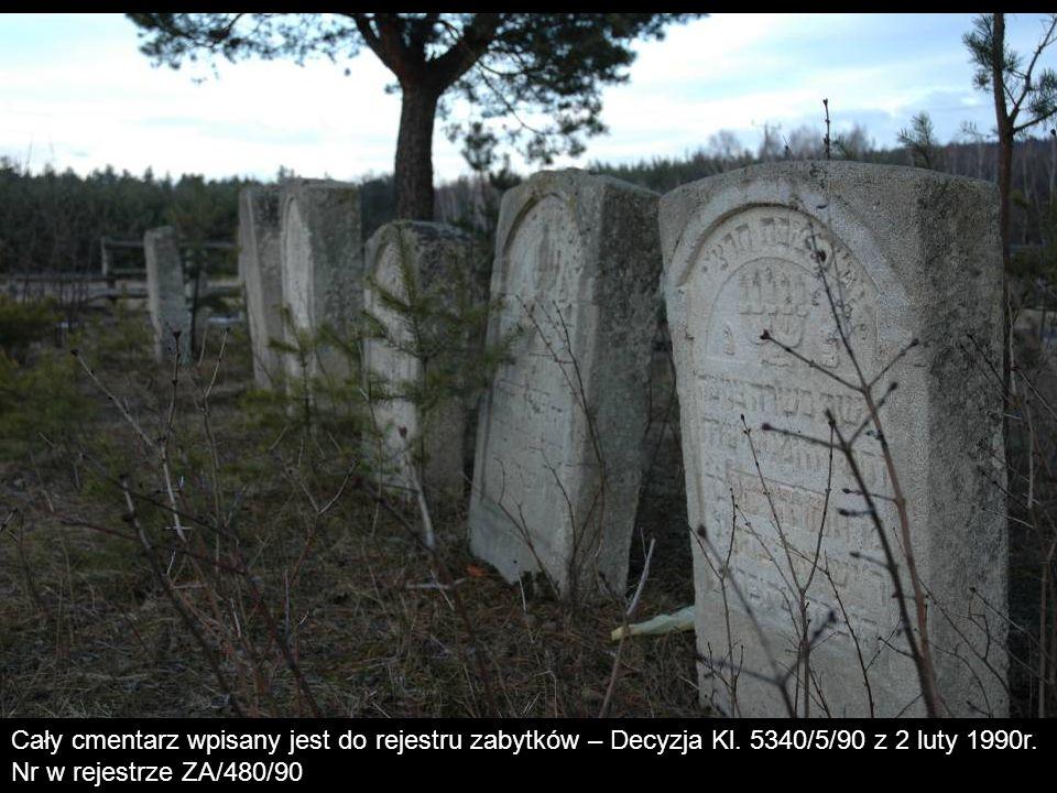 Cały cmentarz wpisany jest do rejestru zabytków – Decyzja Kl
