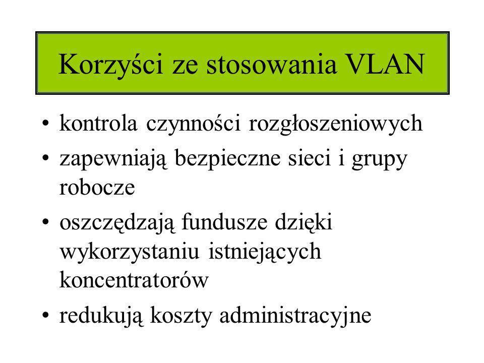 Korzyści ze stosowania VLAN