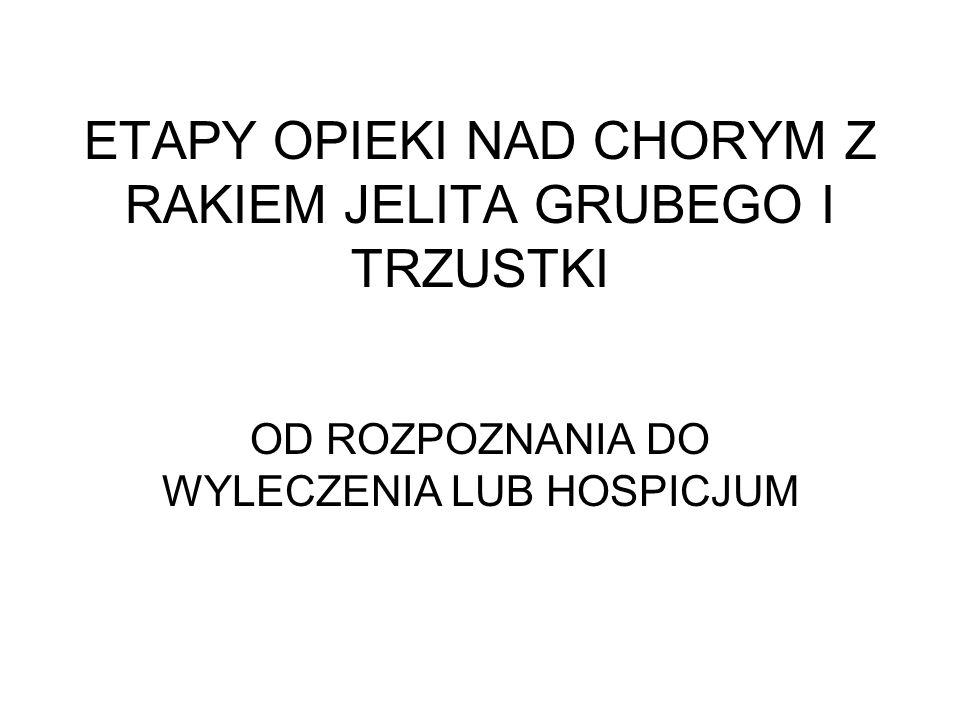 ETAPY OPIEKI NAD CHORYM Z RAKIEM JELITA GRUBEGO I TRZUSTKI