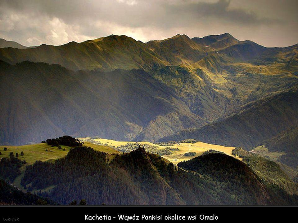 Kachetia - Wąwóz Pankisi okolice wsi Omalo