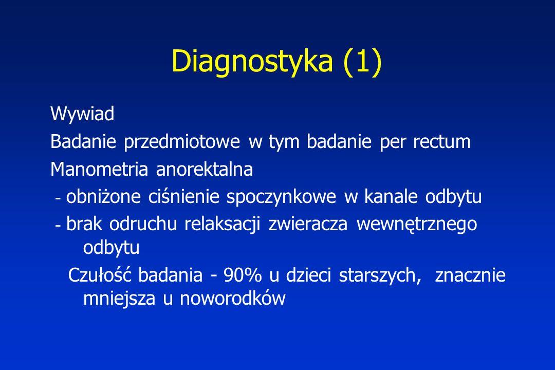 Diagnostyka (1) Wywiad Badanie przedmiotowe w tym badanie per rectum
