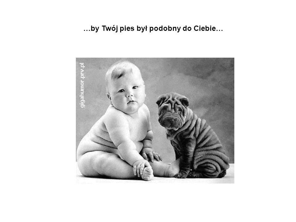 …by Twój pies był podobny do Ciebie…