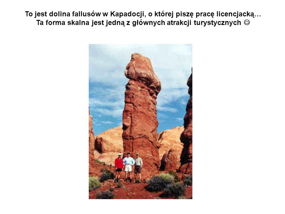 To jest dolina fallusów w Kapadocji, o której piszę pracę licencjacką…