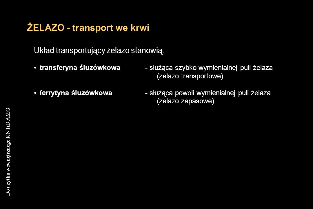 ŻELAZO - transport we krwi