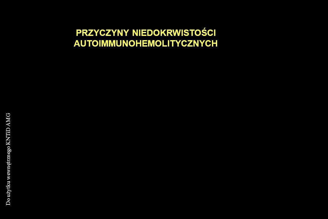 PRZYCZYNY NIEDOKRWISTOŚCI AUTOIMMUNOHEMOLITYCZNYCH
