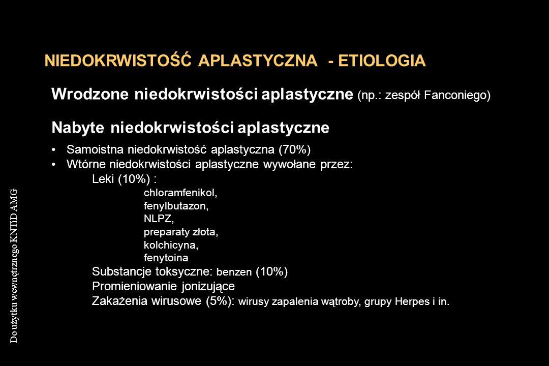 NIEDOKRWISTOŚĆ APLASTYCZNA - ETIOLOGIA