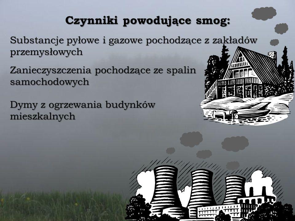 Czynniki powodujące smog: