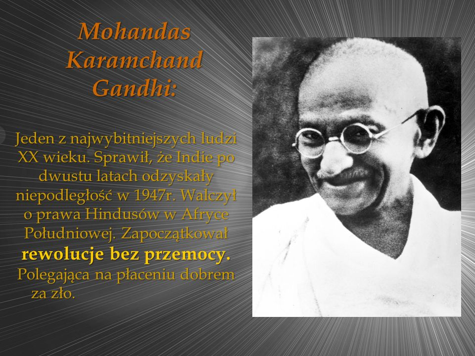 Mohandas Karamchand Gandhi: