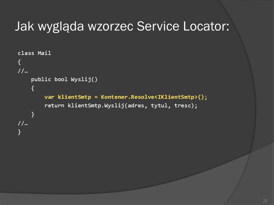 Jak wygląda wzorzec Service Locator:
