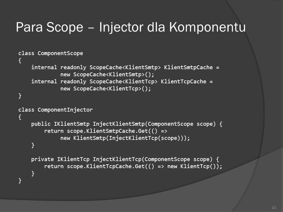 Para Scope – Injector dla Komponentu