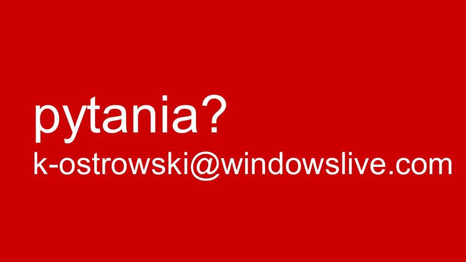 pytania k-ostrowski@windowslive.com
