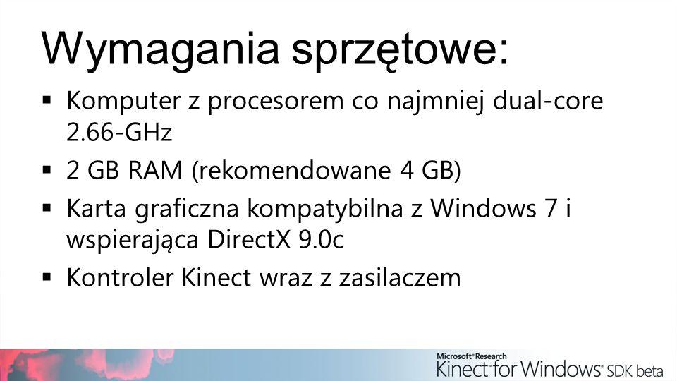 Wymagania sprzętowe: Komputer z procesorem co najmniej dual-core 2.66-GHz. 2 GB RAM (rekomendowane 4 GB)