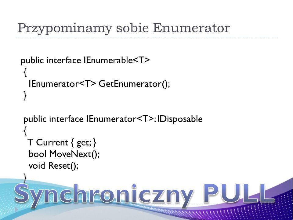 Przypominamy sobie Enumerator