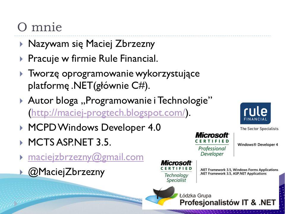 O mnie Nazywam się Maciej Zbrzezny Pracuje w firmie Rule Financial.