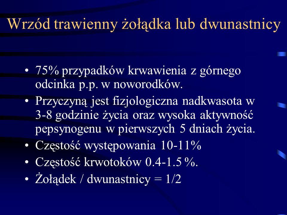 Wrzód trawienny żołądka lub dwunastnicy
