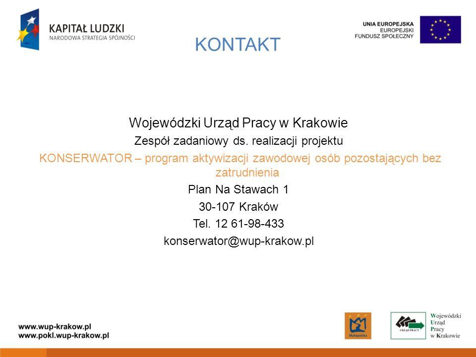 KONTAKT Wojewódzki Urząd Pracy w Krakowie
