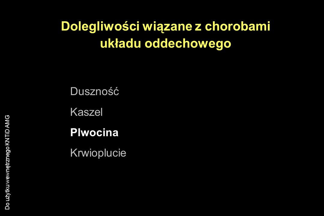 Dolegliwości wiązane z chorobami układu oddechowego
