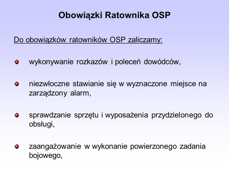 Obowiązki Ratownika OSP