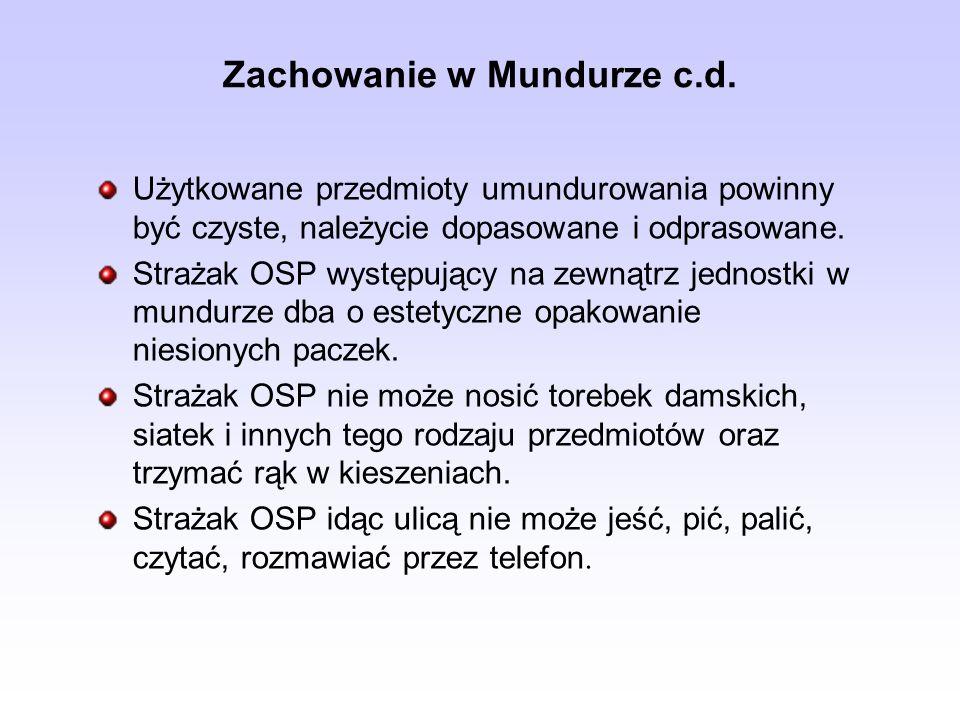 Zachowanie w Mundurze c.d.