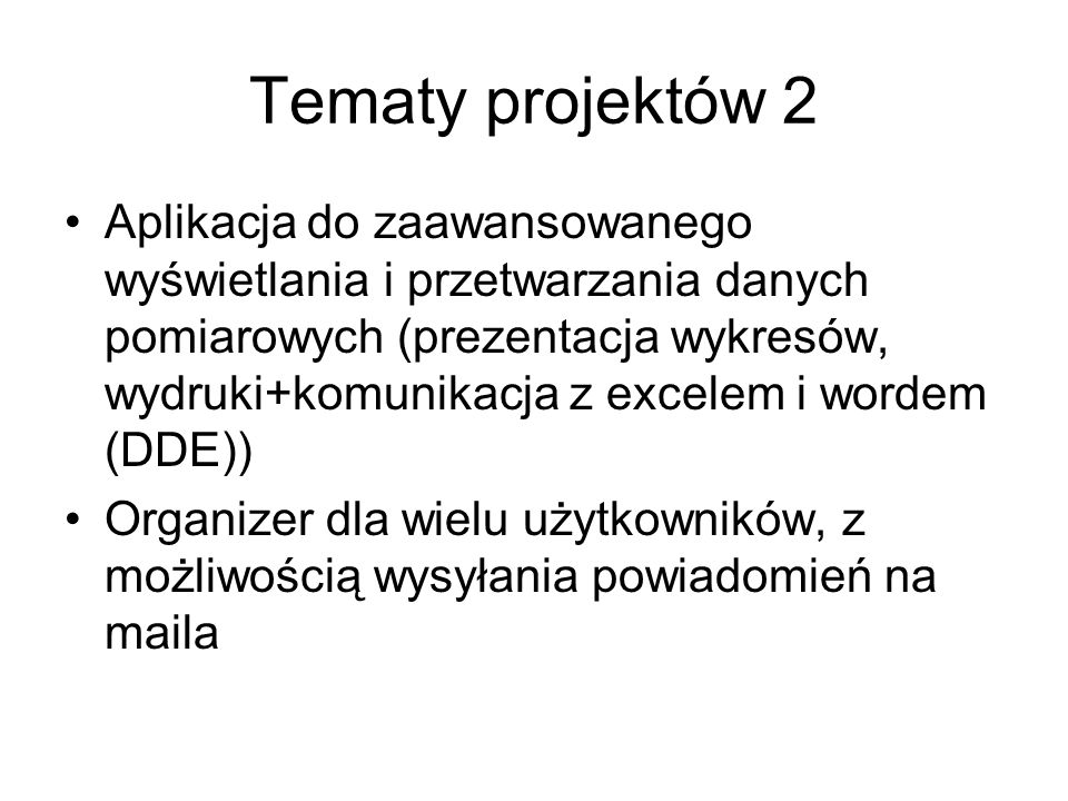 Tematy projektów 2
