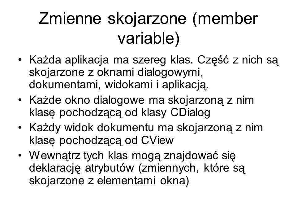 Zmienne skojarzone (member variable)