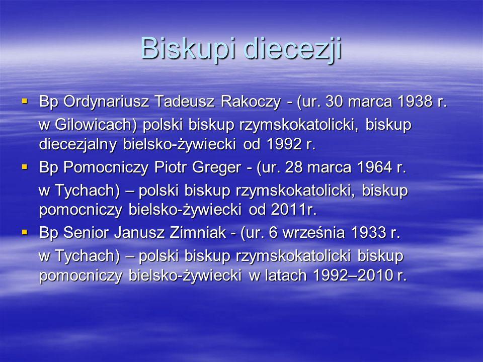 Biskupi diecezji Bp Ordynariusz Tadeusz Rakoczy - (ur. 30 marca 1938 r.