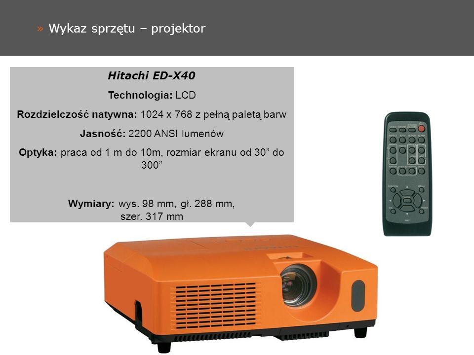 » Wykaz sprzętu – projektor