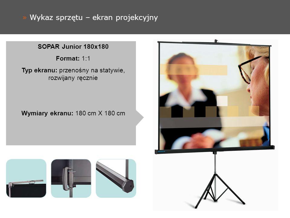 » Wykaz sprzętu – ekran projekcyjny