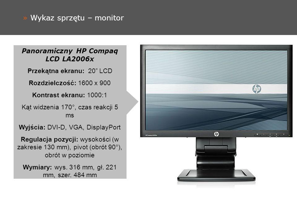 » Wykaz sprzętu – monitor