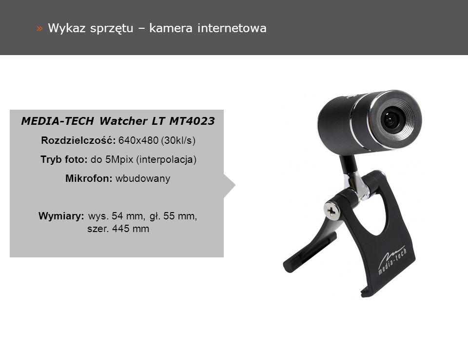 » Wykaz sprzętu – kamera internetowa