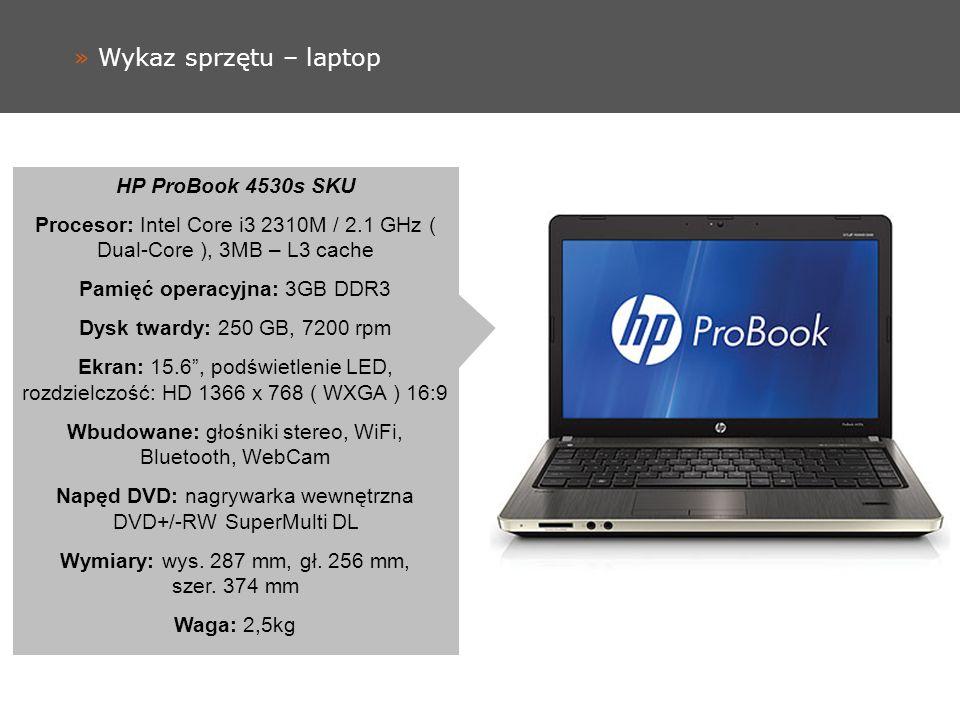 » Wykaz sprzętu – laptop