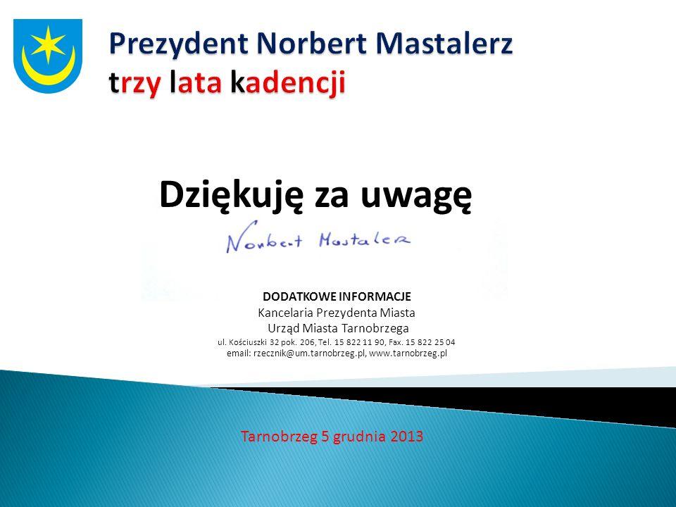Prezydent Norbert Mastalerz trzy lata kadencji