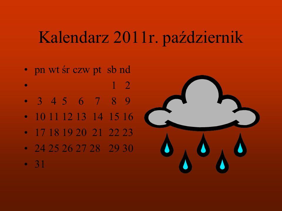 Kalendarz 2011r. październik