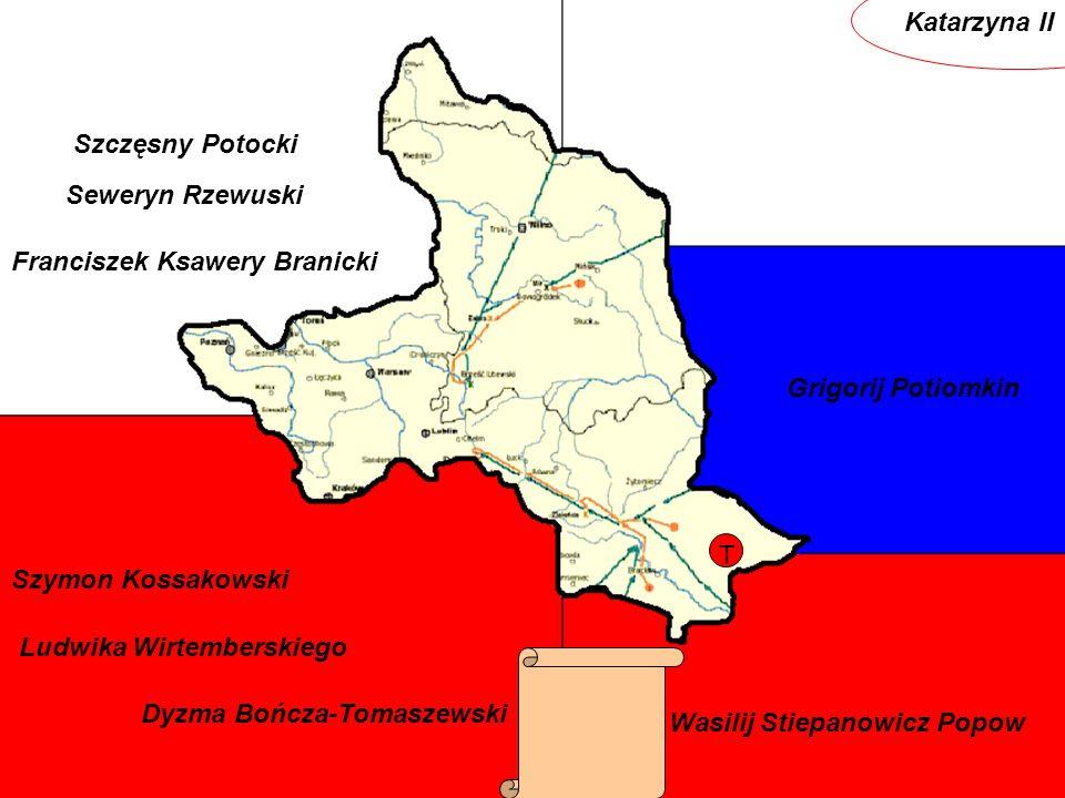 Katarzyna II Szczęsny Potocki. Seweryn Rzewuski. Franciszek Ksawery Branicki. Grigorij Potiomkin.