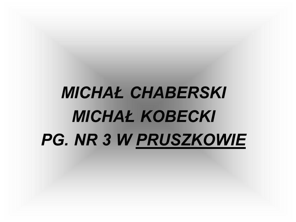 MICHAŁ CHABERSKI MICHAŁ KOBECKI PG. NR 3 W PRUSZKOWIE