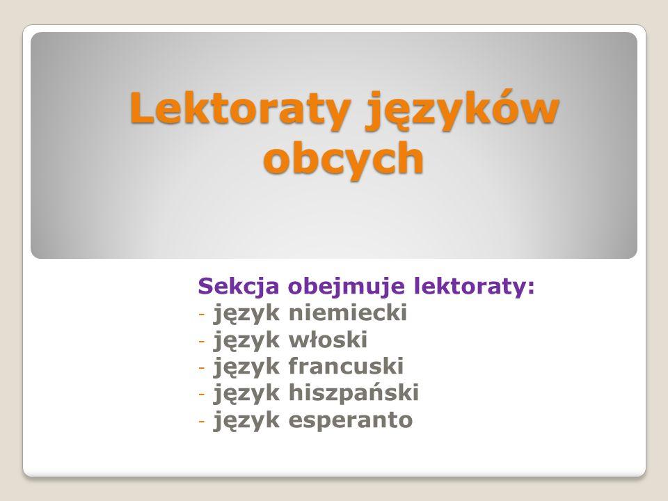 Lektoraty języków obcych