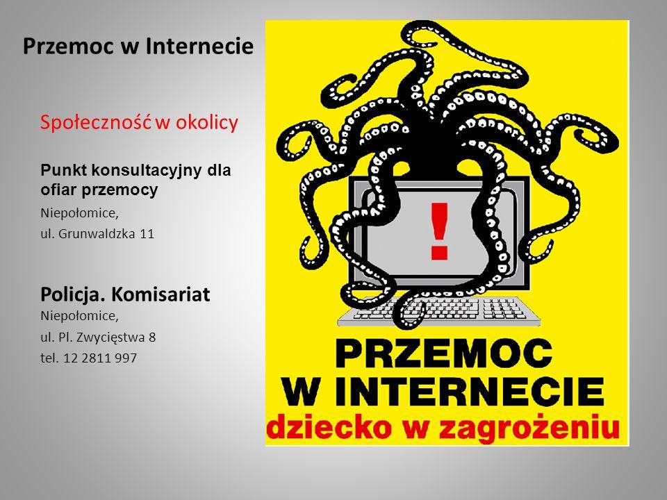 Przemoc w Internecie Społeczność w okolicy