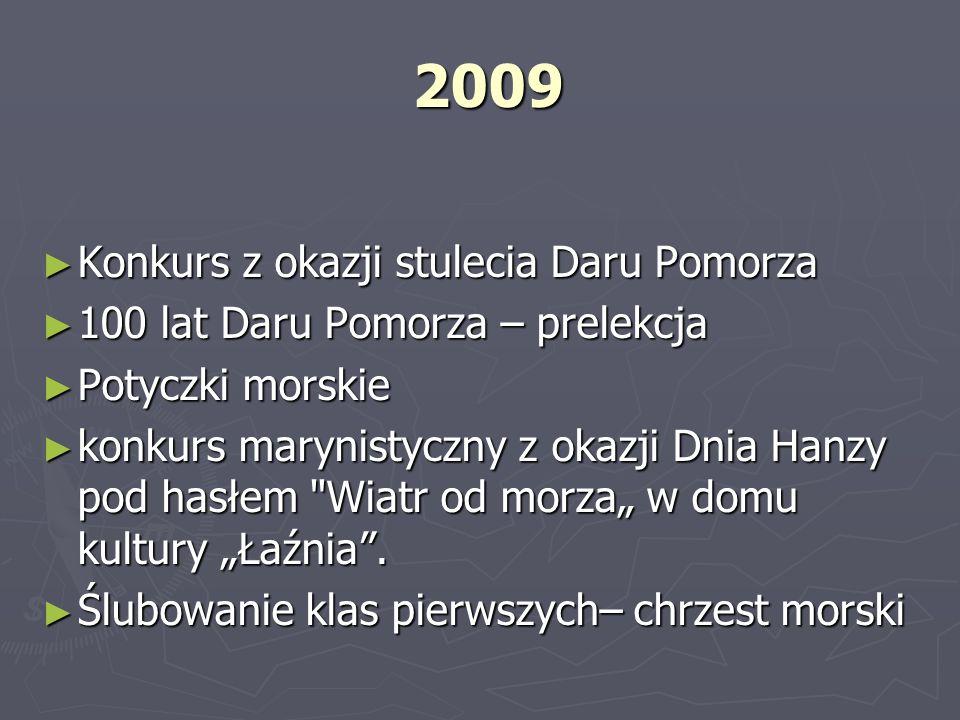 2009 Konkurs z okazji stulecia Daru Pomorza