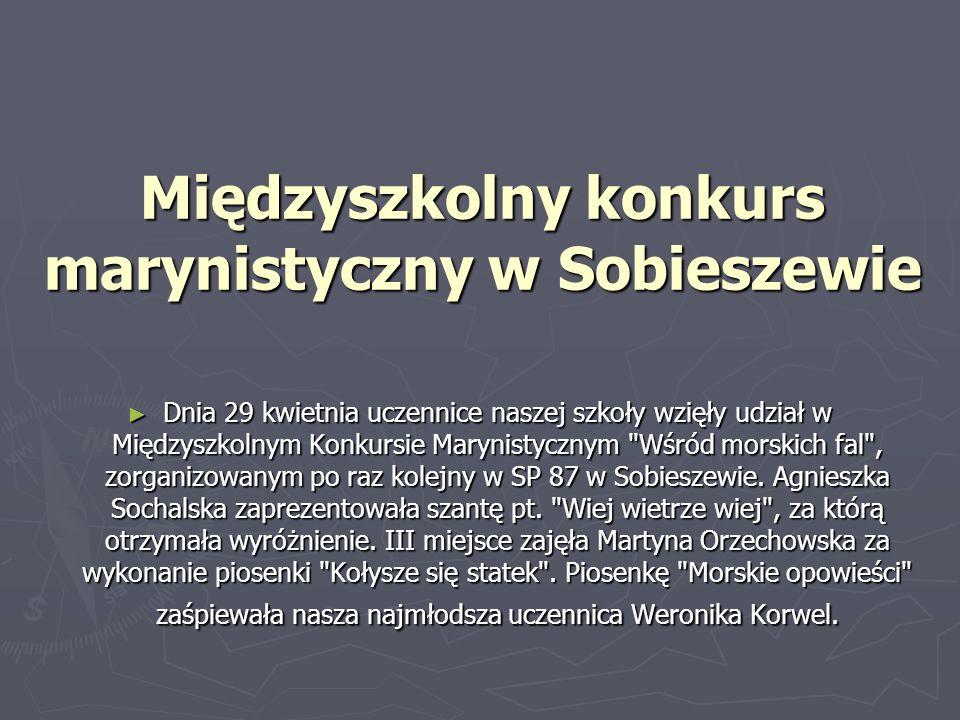 Międzyszkolny konkurs marynistyczny w Sobieszewie